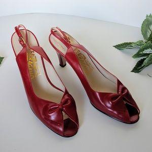 Vintage Salvatore Ferragamo kitten heels s…